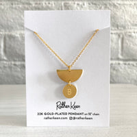 Custom Single Initial 18k gold charm necklace