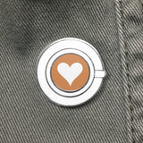 Latte Art enamel pin by Rather Keen