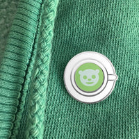 Matcha Latte Art enamel pin by Rather Keen