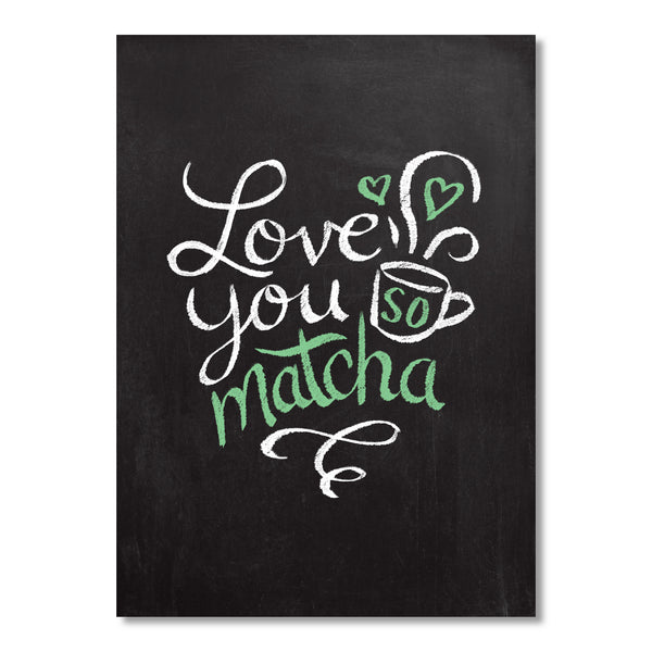 Love You So Matcha greeting card