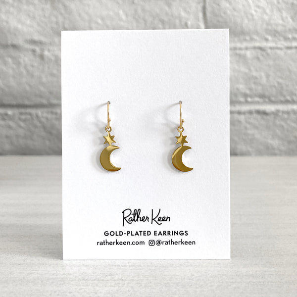 Rather Keen Moon Star earrings