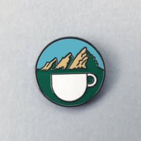Mountain Brews - Colorado Coffee enamel pin by Rather Keen