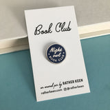 Night Owl Book Club enamel pin