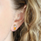 Pumpkin Spice Latte stud earrings