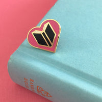 Book Lover enamel pin