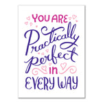 Practically perfect in every way Valentine's Day card by Rather Keen.