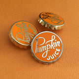 Pumpkin Juice bottle cap enamel pin by Rather Keen