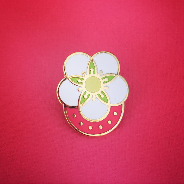 Strawberry Blossom Enamel Pin