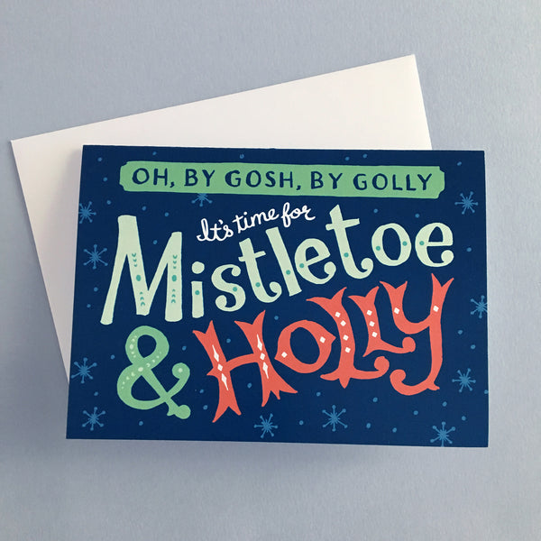 Sinatra Mistletoe and Holly retro Christmas cards by Rather Keen