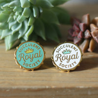 Royal Succulent Society enamel pin by Rather Keen.
