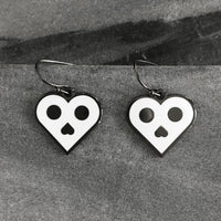 Skull Heart earrings by Rather Keen.