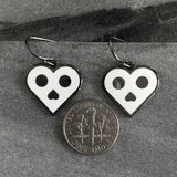 Skull Heart earrings