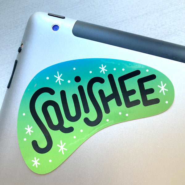 Squishee vinyl sticker
