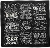 Star Wars quotes bandana