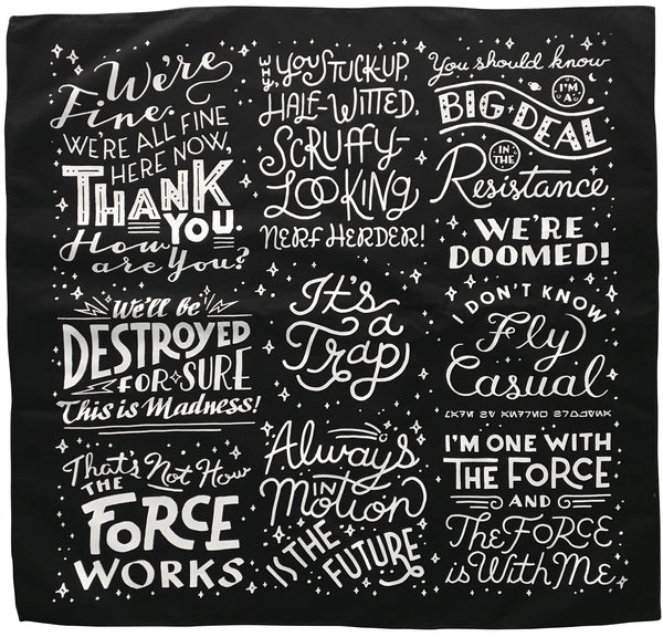 Quote Star Wars: Star Wars Quotes Bandana