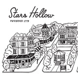 Stars Hollow Town Square print - Gilmore Girls poster