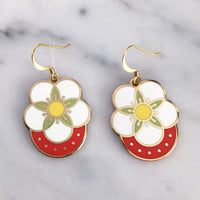 Strawberry Blossom geometric earrings by Rather Keen