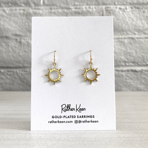 Sun Burst earrings by Rather Keen.