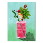 Tiki Drink greeting card