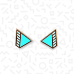 Wedge stud earrings - Memphis Style