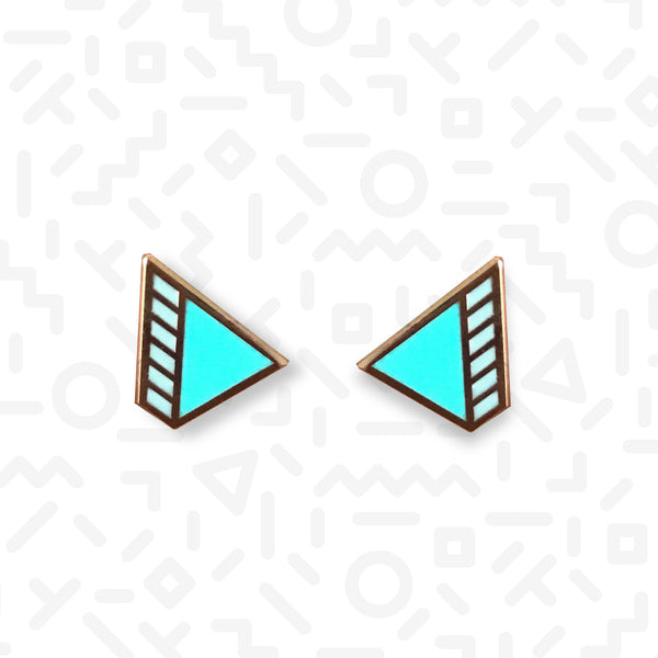1980s Wedge stud earrings - Memphis Style