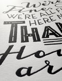 Han Solo quote letterpress print - Star Wars poster