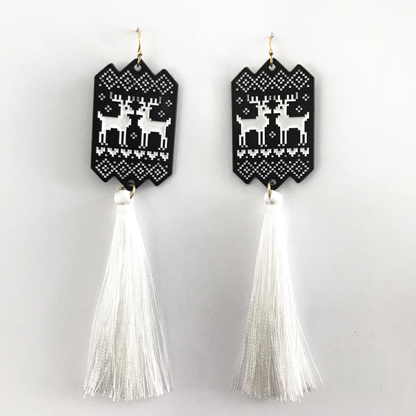 Black Christmas Sweater earrings