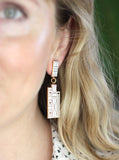 Geometric Books earrings by Rather Keen.