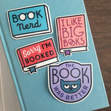 Bookish vinyl stickers by Rather Keen.