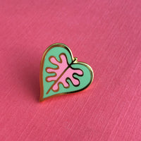 Caladium Leaf enamel pin by Rather Keen.