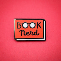 Book Nerd enamel pin by Rather Keen