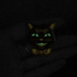 Retro Cat Halloween Pin - Glow-in-the-dark!