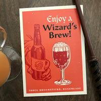 Enjoy a Wizard's Brew art print - Hogsmeade Harry Potter art