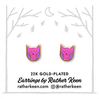 Sleepy Owl stud earrings by Rather Keen.