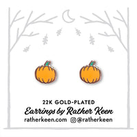 Pumpkin stud earrings by Rather Keen.