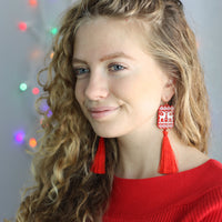 Red Christmas Sweater earrings