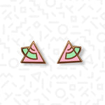 1980s Triangle stud earrings - Memphis Style
