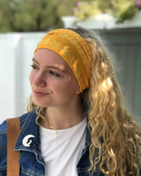 Fall Leaves stretchy headband