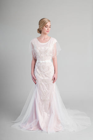 Style: WB5360 Modest vintage-inspired wedding dress