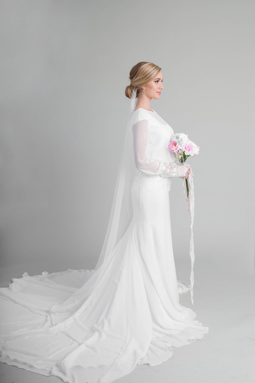Style: WL5362 Beautiful modest chiffon dress
