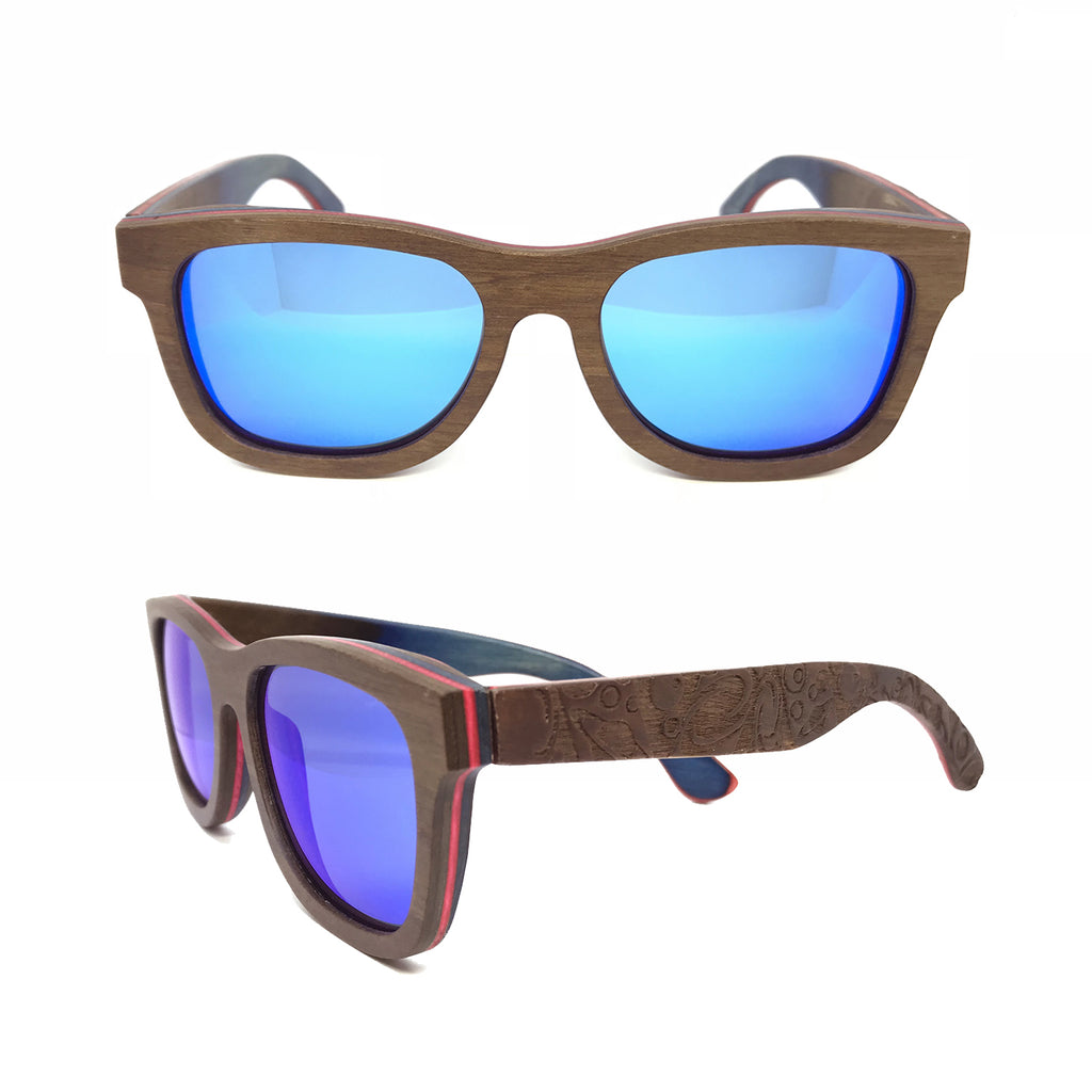 Sk8 Wayfarer – Earth Space Blue Mirror - Bearora