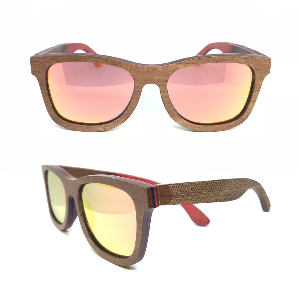 Sk8 Wayfarer – Earth Triangle Orange Mirror - Bearora
