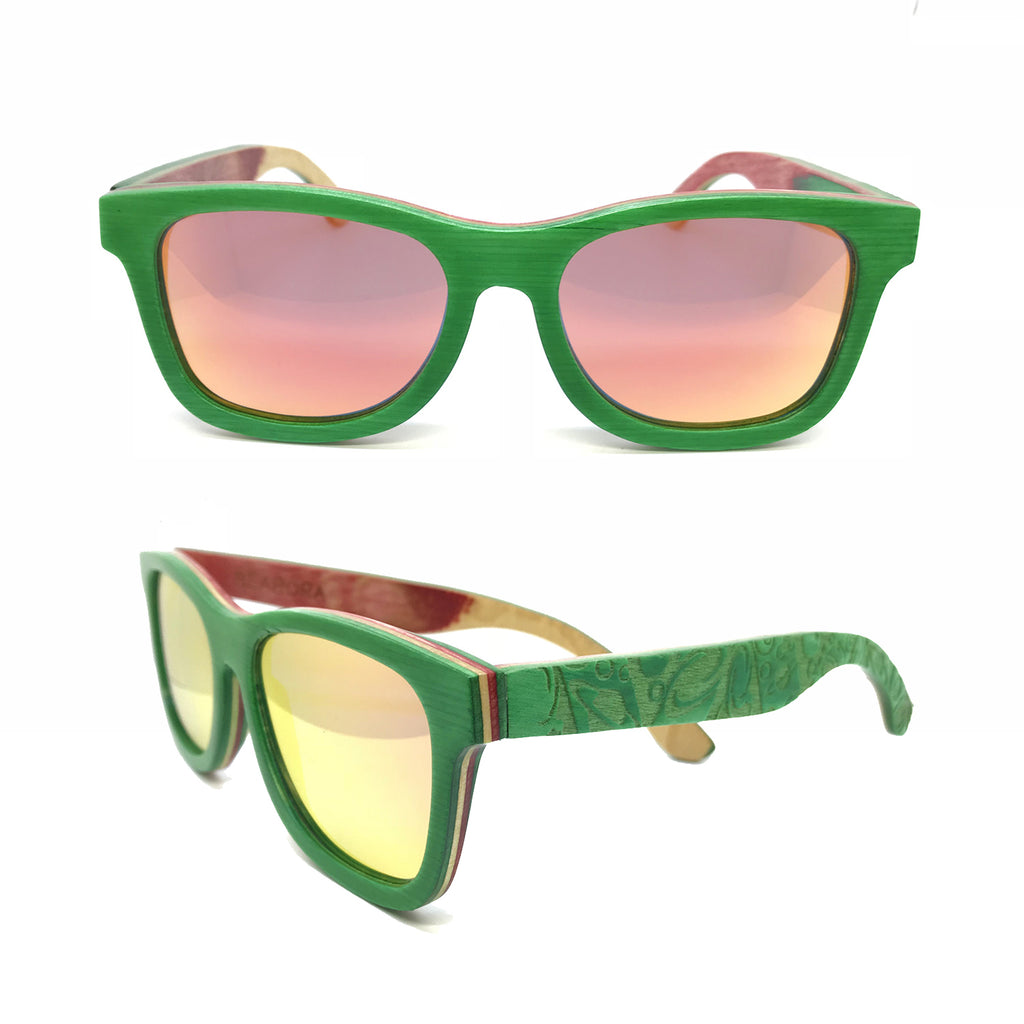 Sk8 Wayfarer – Forest Space Orange Mirror - Bearora