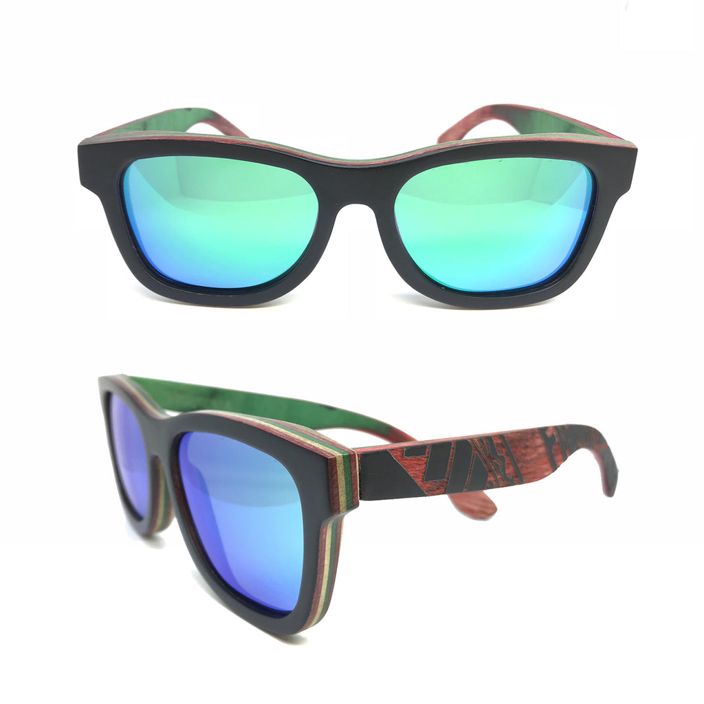 Sk8 Wayfarer – Night Maori Green Mirror - Bearora