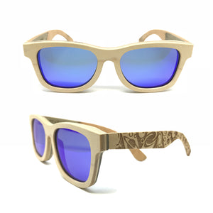 Sk8 Wayfarer – Sand Space Blue Mirror - Bearora