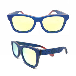 Sk8 Wayfarer – Water Flower Yellow Mirror - Bearora