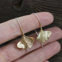 gingko leaf earrings the blissful co