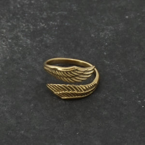 Feather Ring - Adjustable Ring - Knuckle Ring - Leaf Ring