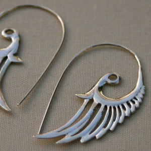 Feather Wing Earrings Sterling Silver
