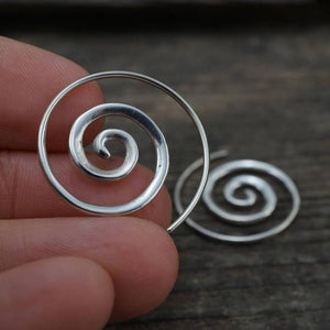 Small Sterling Silver Spiral Earrings